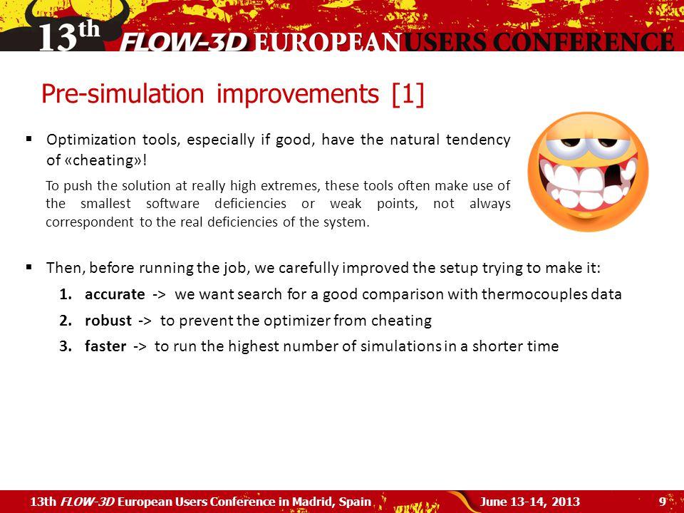 Pre-simulation improvements [1]